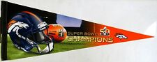 """Denver Broncos Superbowl 50 Champions Premium Pennant 12"""" x 30"""""""