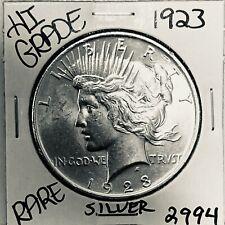 1923 P PEACE SILVER DOLLAR HI GRADE GENUINE U.S. MINT RARE COIN 2994