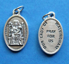 """Our Lady of Walsingham / Pray for Us Oxidized Medal (7/8"""" x5/8"""")"""