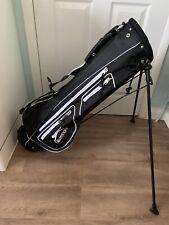*Slazenger Micro Stand Bag Golf Black/Grey EXCELLENT CONDITION*