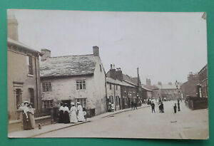 Leyland, Towngate (street scene) real photographic Lancashire postcard 1908
