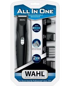 WAHL Mens Beard Nose Ear Hair Shaver Cordless Grooming Kit Trimmer Clipper Set