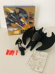 Batman's Batwing plane with villain cruncher Vintage from 1989 D C comics