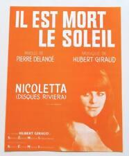 Partition sheet music NICOLETTA : Il Est Mort le Soleil * 60's Delanoë Giraud
