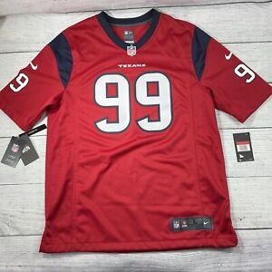 Nike On Field NFL Houston Red Texans Jersey JJ WATT #99 Men's Size L Loose Fit