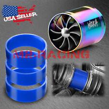 "Mi2KA Air Intake Fuel Gas Saver Double Fan System Turbo 2.5""-3.0"" Neo Chrome"