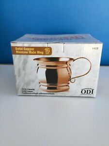 ODI Solid Copper Unlined Lacquered  Moscow Mule Mugs 16 oz. New In Box #423