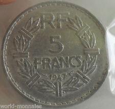 5 francs lavrillier alu 1947 fermé : TTB : pièce de monnaie française