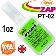 ZAP A Gap Medium CA PT02 1oz 28.3g Quick Setting Super Glue Green Hobby Fishing