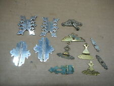 LOT of 12 ANTIQUE BRASS & CHROME HINGES LATCHES HASPS - TRINKET & JEWELRY BOXES