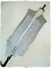 JM Fleurelle Gray Space Dye Fine Knit Slouch Pocket Drape Scarf Vest 3X