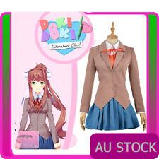 Doki Doki Literature Club Sayori Yuri Natsuki Monika Dress Cosplay Costume Suits
