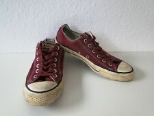 Converse All Star Chucks Sneaker Turnschuhe Slim Low Stoff Rot Gr. 7,5 / 41