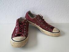Converse All Star Chucks Sneaker Scarpe Da Ginnastica Slim Low TESSUTO ROSSO Tg. 7,5/41