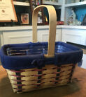 Longaberger Proudly American Spring Basket Combo w/ Liner and Protector