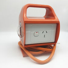 Builders 15 Amp Portable RCD 2x Single Power Point Outlet GPO Safety Switch