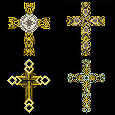 FSL ORNATE CROSSES (free standing lace) - 30 MACHINE EMBROIDERY DESIGNS (AZEB)