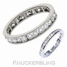 Eternity Not Enhanced Very Good Cut VS1 Fine Diamond Rings
