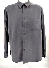 Alfani Men's Sz. L Large Button-Down Long-Sleeve Soft Dress Shirt Top NWOT