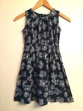 CREWCUTS Blue Floral Knit Sleeveless Dress Girls Size 7
