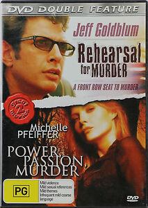 Rehearsal For Murder + Power, Passion, Murder - DVD Jeff Goldblum - 2 Movies