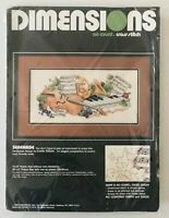 DIMENSIONS SERENADE Cross Stitch No-Count Kit #3929 NOS 1989