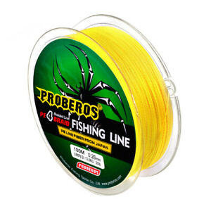 4 Strands 100M Super Strong Braided Wire Fishing Line 6-100LB 0.4-10.0 PE