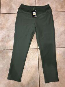 Womens Puma PWRShape Golf Pants Green 595859 Sz M NWT $80