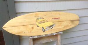 Wooden Surfboard Classic Holden Sandman Beach decor 100cm