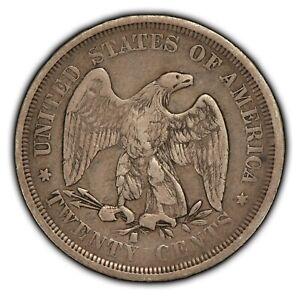 1875-S 20c Seated Liberty Twenty-Cent Piece - Fine+ Coin - SKU-B1277
