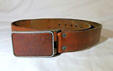 Levi's Original Riveted Belt, leather with rare leather insert, belt buckle