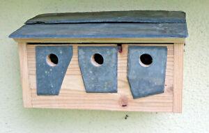 Sparrow Terrace Hotel House Bird Nesting Box Welsh Slate