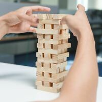 39 Pcs Plain Wooden Blocks Tower Stacking Game Classic Tumbling Building