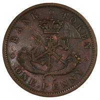 Raw 1852 Bank Of Upper Canada Token