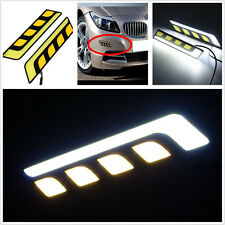 2 x Universal Car LED COB Turn Signal Indicators Y/W Light DRL Fog Light Lamp