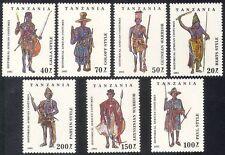 Tanzania 1993 trajes tradicionales/Ropa/Textil/Diseño 7 V Set (n39890)