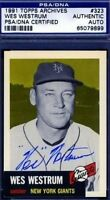 Wes Westrum Signed Psa/dna 1953 1991 Topps Archives Autograph Authentic