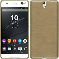 Coque en Silicone Sony Xperia C5 Ultra - brushed or + films de protection