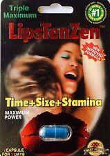 LipsTenZen 2250mg/pwr Triple Maximum Genuine Natural Enahncement for Men 2 Pill