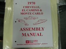 1970 CHEVELLE, EL CAMINO, MONTE CARLO (ALL MODELS) ASSEMBLY MANUAL