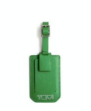 TUMI Province Leather Luggage Tag, Fennel Green Color & Gift Box, BRAND NEW