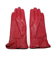 Charter Club Women's Gloves Red Leather Cashmere/Wool Lined Size Small