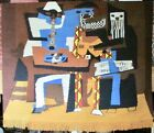 PICASSO THE THREE MUSICIANS HAND WOVEN WOOL TAPESTRY 6 BY 5 FOOT CIRCA 1960'S