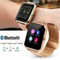MONTRE CONNECTÉE Z60 BLUETOOTH IPHONE ANDROID SPORT ACIER MAILLE OR