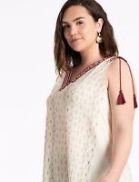 LUCKY BRAND Diamond Print Sleeveless Cotton Boho Tank Top Blouse ~ 2X ~ NWT