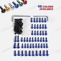 6 Colors Optional Fairing Bolts Kit Fastener Clips Screw for Yamaha YZF R6 99-02