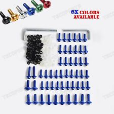 6 Colors Optional Fairing Bolts Kit Fastener Clips Screw F Yamaha YZF R6 1999-02