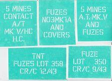 * STENCIL * For Allies  WW2 Anti Tank Contact 5 Mines Mk.V Case (10 stencil set)