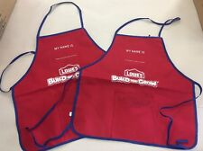 2 New Lowes Build and Grow  Childs Apron Craft Paint Play W/pouch