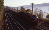 METRO NORTH? Railroad Locomotive HASTINGS ON HUDSON NY Original Photo Slide